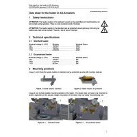 SCHIEBEL Datasheet for the heater in AB-Actuators
