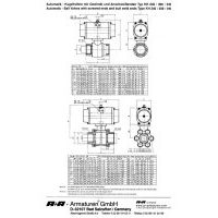 A+R Armaturen KH 240-310 Actuator DIN Datasheet