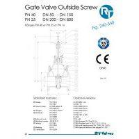 RT Valves 240-540 Series Datasheet