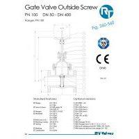 RT Valves 260-560 Series Datasheet
