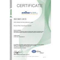 KRONE ISO 9001:2015 Certificate
