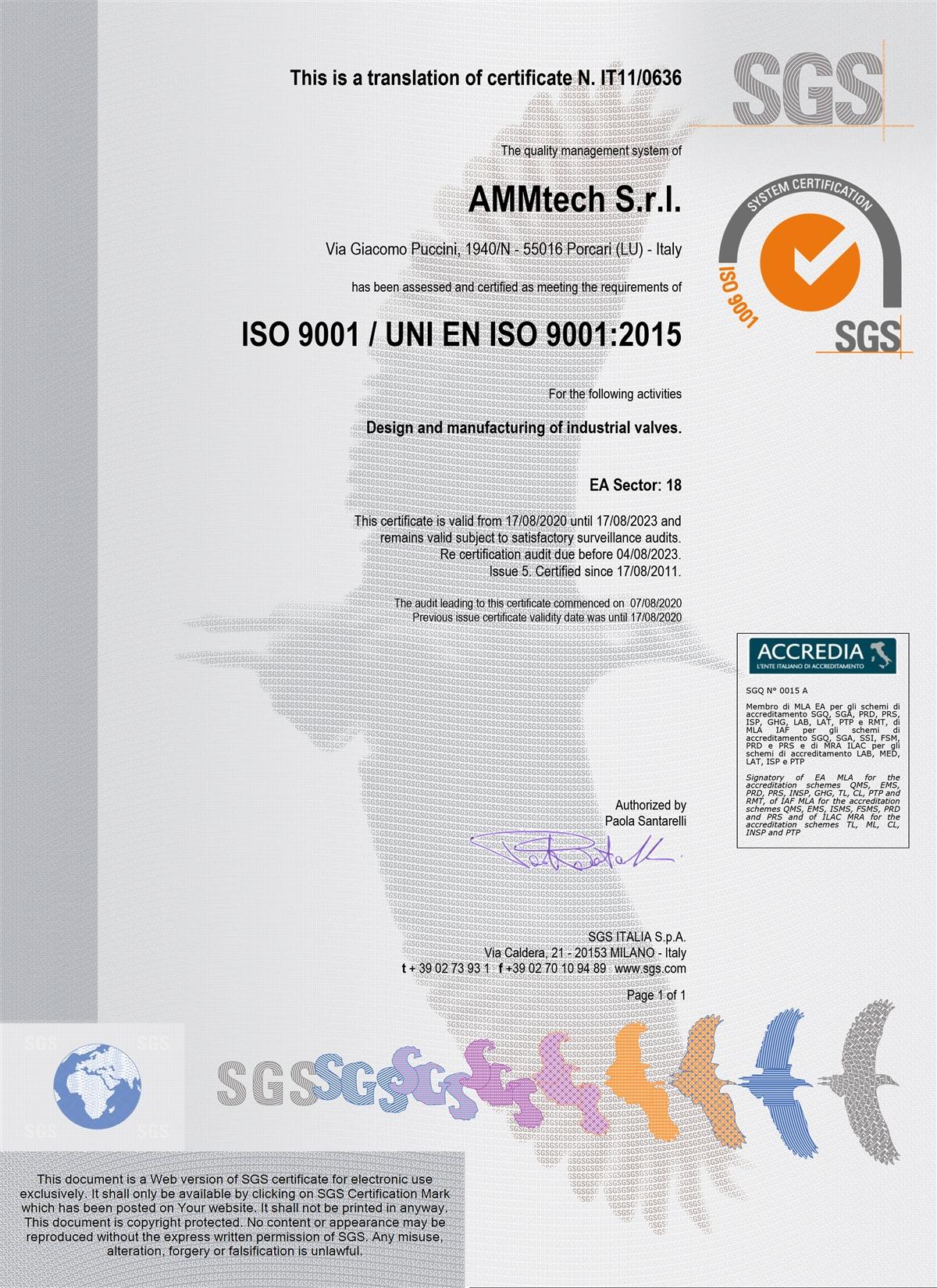 AMMtech ISO9001