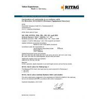 RITAG Declaration of Conformity for Check Valves