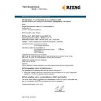 RITAG Declaration of Conformity for Sampling Valves