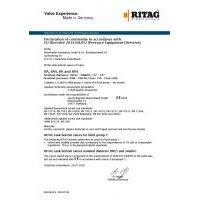 RITAG Declaration of Conformity for Tank Bottom Valves