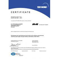 A+R Armaturen ISO 9001