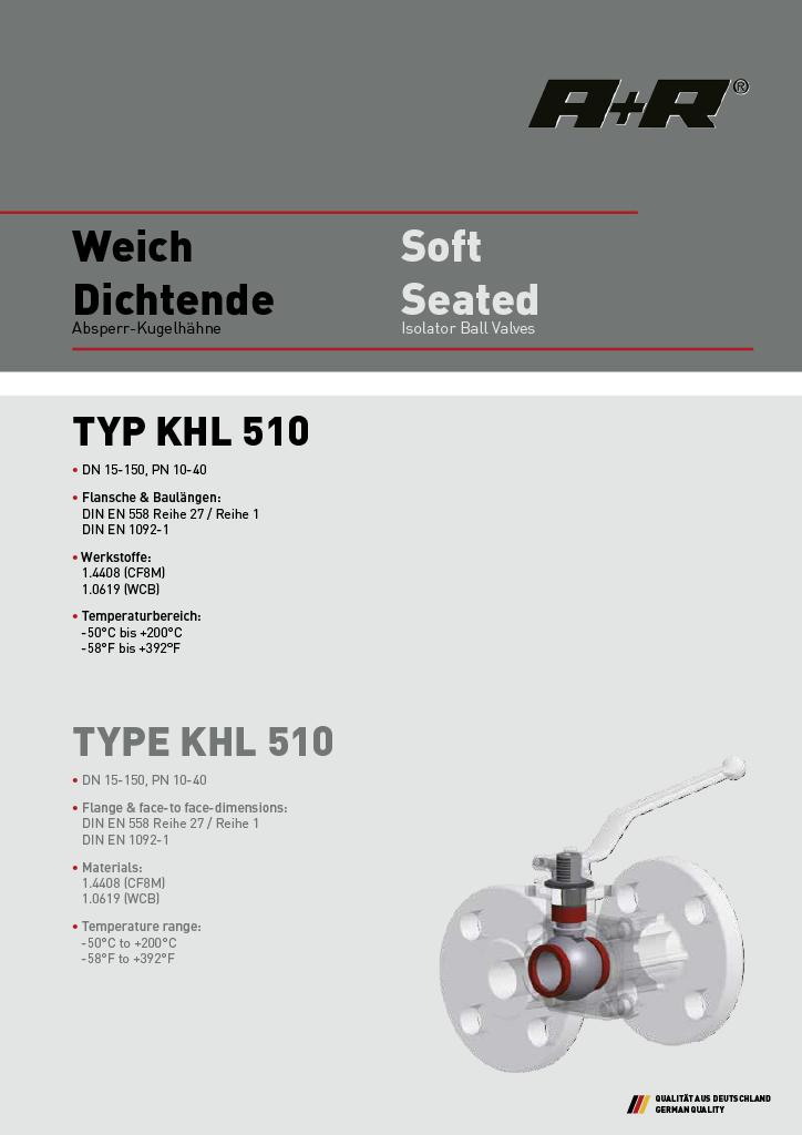 A+R Armaturen KHL 510 DIN